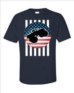Monster Truck Gift Американский Флаг США RC Big Car Радиоуправление - Мужская футболка