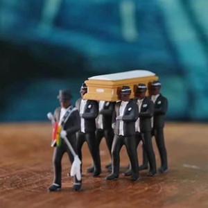 Cosplay Ghana Tanzen Sargträger Coffin Tanz Abbildung Aktion Funeral Tanzen-Team anzeigen Lustige Zubehör Spielzeug für Jungen T200603