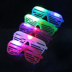 Рождество Светящиеся очки LED пластиковые с 3 огни очки Рождество диско и отдыха партии украшения очки Бесплатная доставка