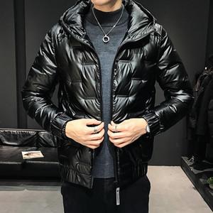 Men's Down & Parkas 80 White Duck Against A Clearance Qiu Dong Season Thin Coats Men Short Portable Hooded Warm Coat