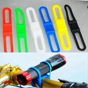 Banda bicicleta botella de fijación ciclo de la bicicleta de la linterna de la correa de montaje elástico de silicona teléfono vendaje titular CYZ2763 300Pcs