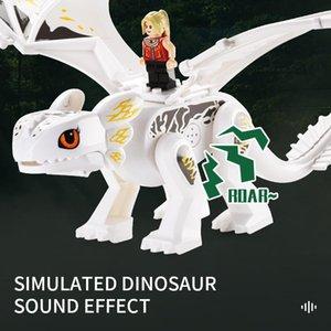 Puzzle Montieren Gebäude DIY Drachen simulierte Welt Dinosaurier Action Blocks Dinosaurier Figuren Spielzeug Junge Kinder Ziegel Neuheit Puppe Ohvmk