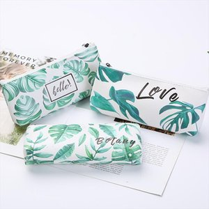 Women Portable Green Travel Toiletry Cosmetic Bag Storage Pouch Purse Organizer Students Zipper Pencil Bag Patent Leather