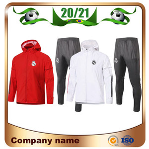 20/21 REAL MADRID Veste Hat 2020 REAL MADRID RISQUE SERGIO RAMOS BENZEMA VINICIUS formation Manteau de pluie Tenue de football Veste S Uniforme