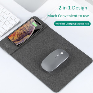 Qi Wireless Charging Mouse Pad, Qi 2 in 1 Tappetino mouse per iPhone XS MAX / 8 Inoltre Samsung S8 Plus / Nota 8