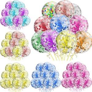 12-Inch Trasparenti Lattice Balloon Confetti Gold paillettes Balloon Set di compleanno del partito della decorazione 10 pc