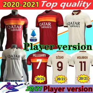 Player versão 20 21 AS Roma Futebol Kolarov 2020 2021 TOTTI maglia da calcio DZEKO Futebol camisa dos homens CENGIZ SOB Fardas Kluivert