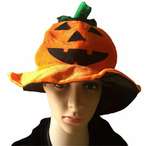 2020 Halloween Pumpkin Hats Pleuche Bucket Caps Fashion Unisex Party Performance Prop Women Men Fashion Festive Gift Favor Supplies LY9272