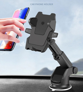 One Touch Car Mount Long Neck Universal Windshield Dashboard Mobile Phone Holder Strong Suction for Samsung S8 Plus iPhone 7 plus