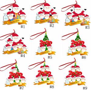 2020 Christmas mask snowman pendant resin Ornament Christmas tree hanging pendant Decoration wishes the whole family peace sea GGA3733-2