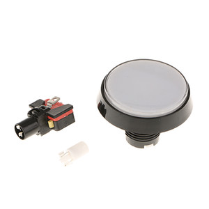 60mm Round Arcade Push Button 12V LED Lamps Switch for Large Machine Projects   Arcade Games Video Player Replace Accessories