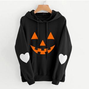 Halloween Pumpkin stampare con cappuccio con cappuccio pullover uomini donne 3D Skull stampa Autunno Inverno Uomo Donna cappotto outwear felpa