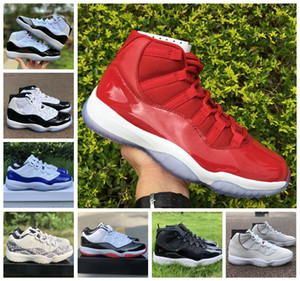 2020 New Jumpman Low Weiß Schwarz Rot Blau 11 11s Basketball-Schuhe Heiress Royal White Herren Sneakers Damen-Turnschuhe