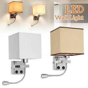 Ajustable de pared LED de luz de lámpara aplique de pared LED de luz de ojos Proteja luz de lectura Estudio de Iluminación para el hogar la noche dormitorio lámpara de cabecera