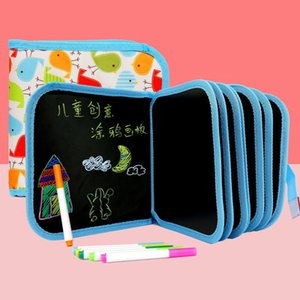 Nuevo 2020 del bebé Juguetes Set Pintura Dibujo Junta Negro con juguetes Magic Pen pintura Coloring Book juguete divertido para los niños LJ200922