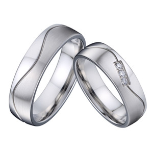 Marriage Love River Wave Alliance wedding rings set for couple men and women Anniversary gift titanium stainless steel jewelry