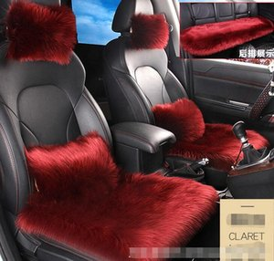 Winter use velvet Front+Rear Seat Cushion Car Seat Covers For Interior Accessories