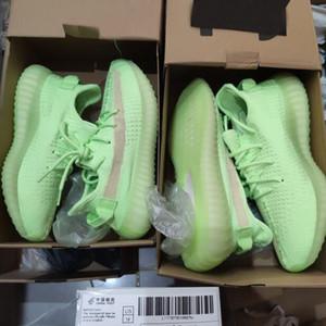 Nuevos Kanye West hombre libre Calcetines para mujer de los zapatos corrientes de la escoria cebra cola zapatillas de deporte de luz reflectante Israfil Asriel Ropa de las mujeres con la caja