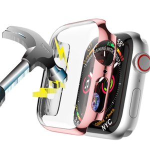 Screen Protective Case for Apple Watch4 44mm 40mm iwatch series 4 HD Shock Proof Shatter-Resistant Shell Frame Protector Cover