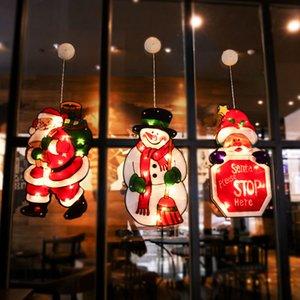 46*26 CM LED Sucker Window Hanging Lights Christmas Decoration Atmosphere Scene Layout Festive Decorative Lights DHL Free Freight