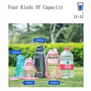 Spor Uzay Su Şişesi BPA Free Adult Temizle Plastik Su Şişesi Running Fabrikası Tedarik Büyük Kapasiteli Açık Bisiklet