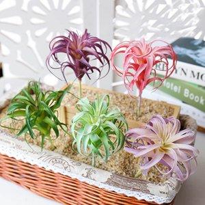Piña Artificial Grass suculento de Aire Plantas Fake Plastic Flowers Inicio decoración de la pared verde