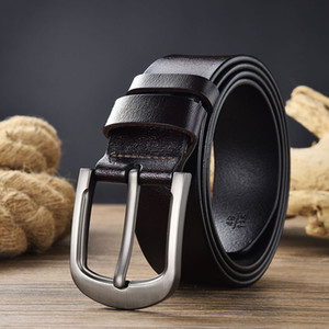 2020 New Men's Belt Leather Young People All-match Leather Pin Buckle Casual Pants Belt