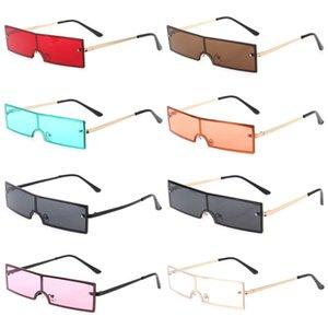 2020 Chic Sunglasses Flat Square Frame Brand Designer UV400 Lens Fashion Eyewear 2XPC