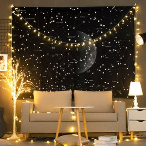 Camera da letto Decor Tapestry Wall Hanging Fondale in tessuto decorazione del salone Tapastry Nero Tapiz Elk Starry Sky Lion Tapisserie