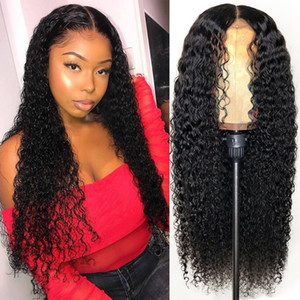 Glueless Water Wave Curly Brazilian Human Hair Full Lace Wig For Women Remy Virgin Indian Peruvian Wig Caps