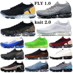 2019 2 Zebra Tiger Fly 2.0 Chaussures de course pour hommes Femmes Volt Triple Black White Mens Trainers Cushion Athletic Sports Sneakers 36-45