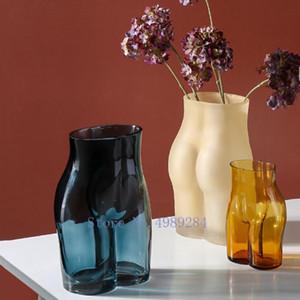 الإبداع زجاج زهرية مجردة الجسم فن النحت الحرف شفاف تنسيق الزهور زهرية زهرة الحديثة ديكور المنزل