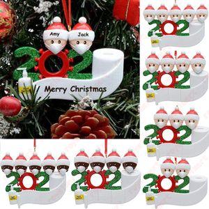 Noel Süs DIY Selamlar 2020 Karantina Noel doğum günü partisi Pandemik Sosyal Mesafenin Noel ağacı kolye Aksesuarları