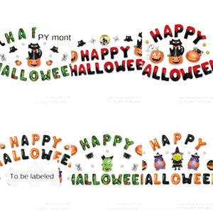 IaTrl Aluminiumfilmballon Halloween-Dekor-Teufel-Kürbis-Geist-Helium-Ballone Startseite Skeleton Geist-Party-Dekoration ToysDHL Inflatable