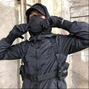 Unisex Chest Rig Bag Tactical Streetwear Chest Bag Functional Tooling Hip Hop Vest Bags Two Pockets Men Fanny Pack Kanye West