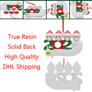 Yüksek Kaliteli Reçine Noel Süs Seramik Aile kolye Noel ağacı DIY Adı Noel Dekorasyon DHL Ücretsiz Kargo
