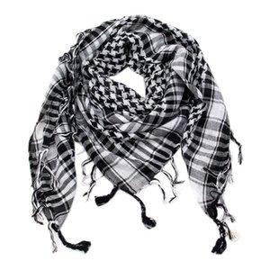 Men Tactical Camouflage Scarf Desert Arab Keffiyeh Scarf Camouflage Head Women Arabic Cotton Paintball Face Mask