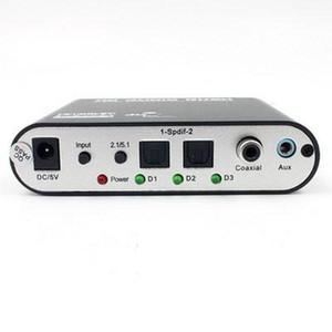 da DHL o EMS 20pcs HD 5.1 Audio Decoder AC3 ottico a Stereo Surround analogico Rush Player Decoder adattatore e un cavo