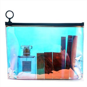 Travel Transparent Cosmetic Bag Fashion Paillette Zipper Make Up Case Organizer Storage Makeup Toiletry Beauty Wash Kit Bath Bag