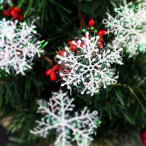 크리스마스 인공 눈송이 3PC / 홈 노엘 크리스마스 트리 장식 눈 가짜 눈송이 크리스마스 장식 팩