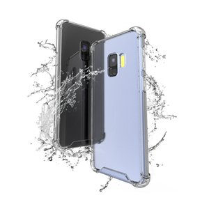 Transparent Shockproof Acrylic PC Back TPU Bumper Hybrid Case for Samsung S9 Plus S7 Edge S8 Note A8 J7 J5 LG G5 Nokia 6 8 Huawei 7X