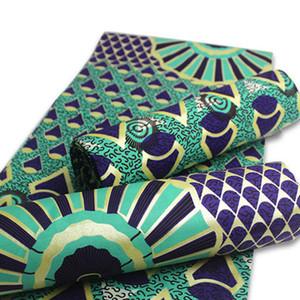 Горячие продажи 100% хлопок Golden Wax Печать Ткань Анкара Бинт Real воск высокого качество 6 ярдов Африканской Ткань для платья партии