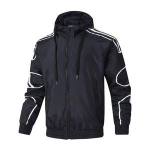 Осень Конструктор куртки Пальто для Mens с капюшоном куртки тавра Ветровка молнии Толстовки Мужчины SPORTWEAR 3 цвета L-4XL Оптовые