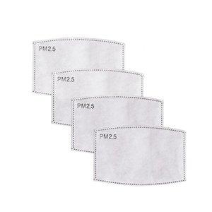 5 capas de máscara PM 2.5 Filtro de aire fresco Máscara Filtro de carbón activado Kid Reemplazos ofensivo del cojín del respirador de repuesto para máscaras LJJP489