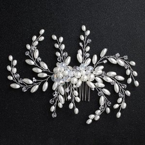 NPASON Perle Peigne Accessoires cheveux de mariée Mesdames peigne perle Bandeau Tiara Bandeau Femmes Ornement Tête