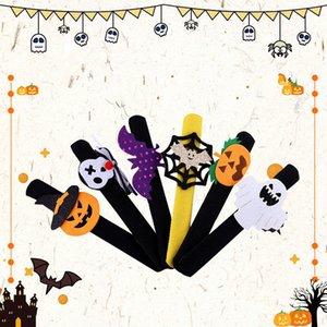 Хэллоуин Хлоп кольцо Дети лучезапястного сустава мультфильм браслет Hallowmas тыквы Bat Череп Devils ремень Рождество Дети браслет партии Подарки D9903