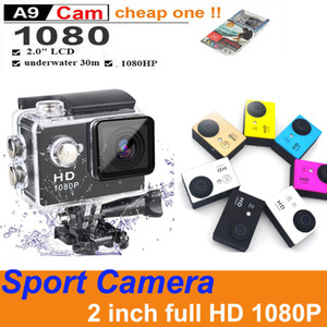 Colorful Cheapest Best Selling SJ4000 A9 Full HD 1080P Camera 12MP 30M Waterproof Sport Action Camera DV