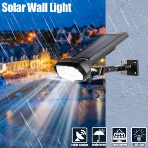 US Stock Adjustable LED Solar Power Light PIR Motion Sensor Spot Garden Wall Lamp Outdoor IP65 Waterproof Solar Wall Lights