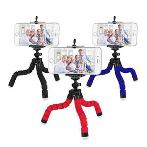 Soporte para teléfono trípode flexible del pulpo soporte universal soporte para el teléfono celular del coche de la cámara selfie Monopod con disparador remoto Bluetooth