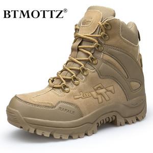 Tactical Combat Boots Männer echtes Leder US-Armee Jagd Trekking Camping Bergsteigen Winter-Arbeitsschuhe Bot BTMOTTZ